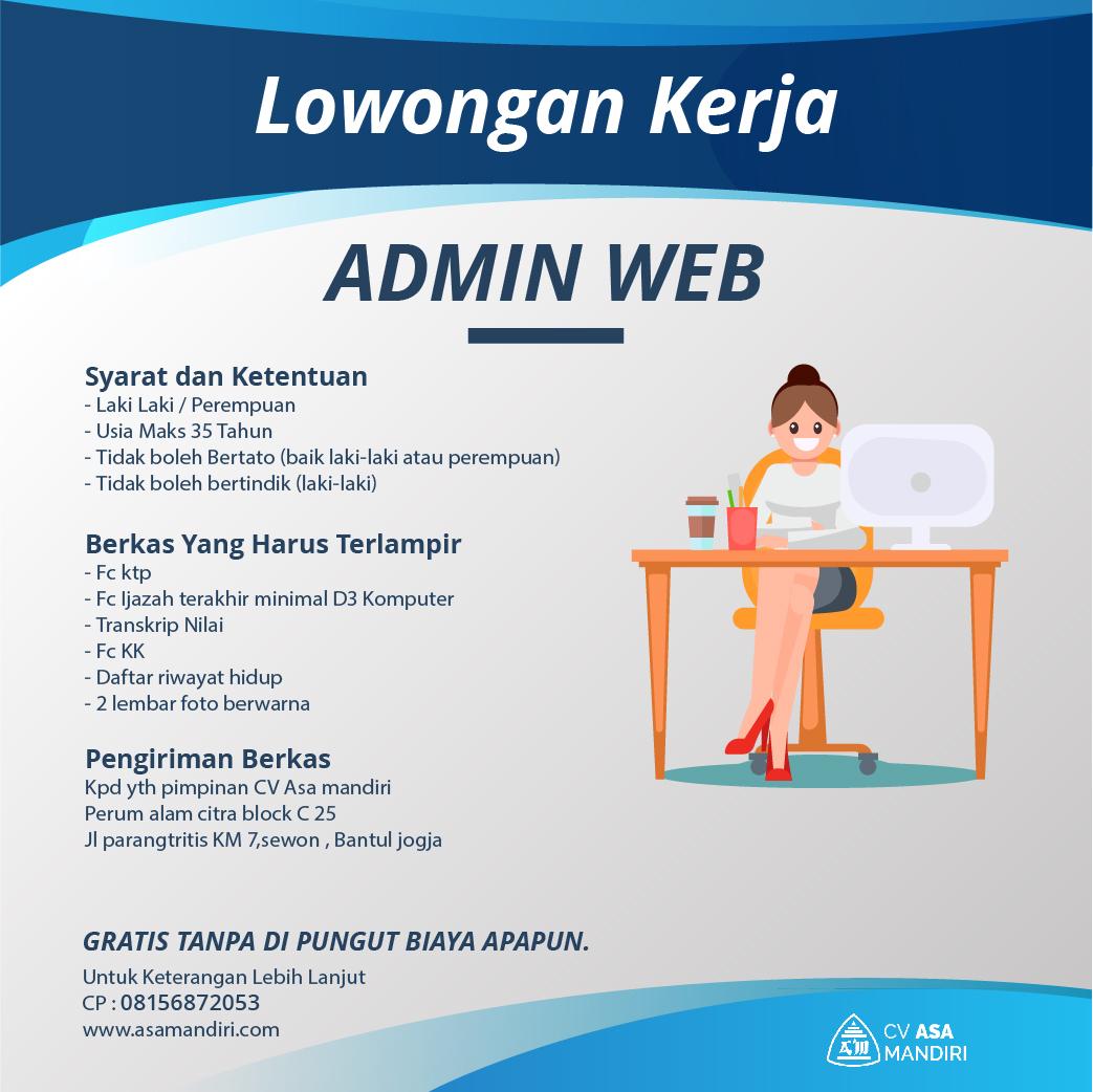 LOWONGAN – ADMIN WEBSITE