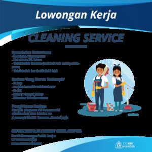 LOWONGAN KERJA – CLEANING SERVICE