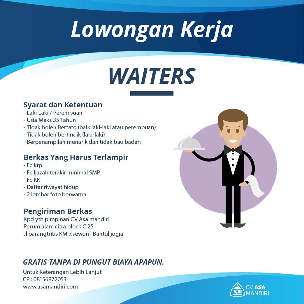 LOWONGAN KERJA – WAITERS